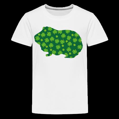 Shamrock Guinea Pig - Kids' Premium T-Shirt