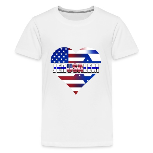 USA IN THE HEART OF JERUSALEM (CAPITAL OF ISRAEL) - Kids' Premium T-Shirt