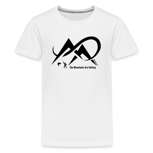 Fishing - The Mountains Are Calling - Black Logo - Kids' Premium T-Shirt