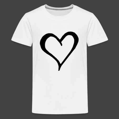 Heart Sketch - Kids' Premium T-Shirt