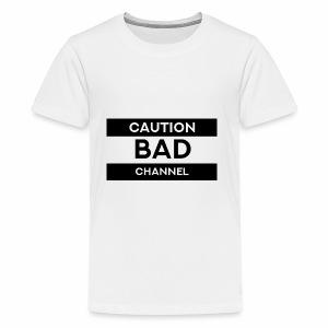 Caution Bad Channel - Kids' Premium T-Shirt