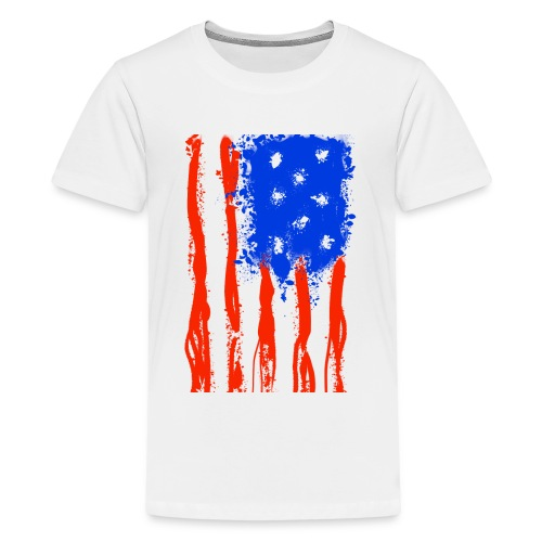 US Flag Flowing Stripes - Kids' Premium T-Shirt