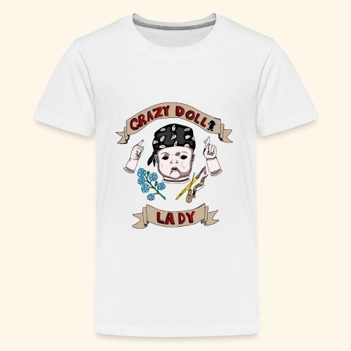 crazy doll lady - Kids' Premium T-Shirt