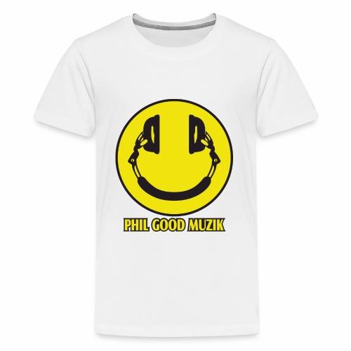 PHIL GOOD MUZIK HAPPY HEADPHONES - Kids' Premium T-Shirt