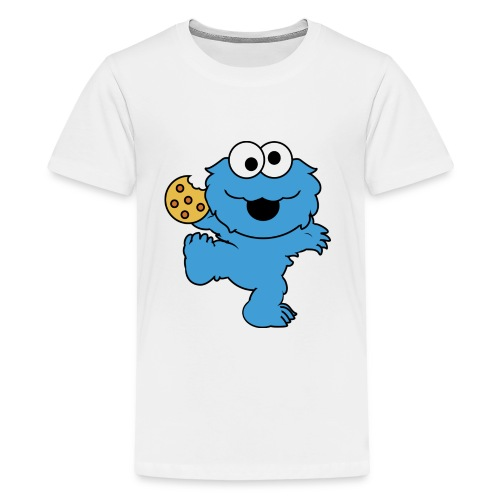 Dancing cookie monster mug - Kids' Premium T-Shirt