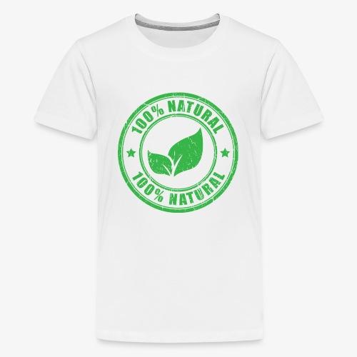 100 natural Organic Crunchy - Kids' Premium T-Shirt