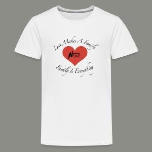 Love Makes A Family - Kids' Premium T-Shirt