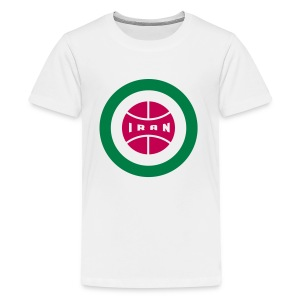 Retro round Iran badge - Kids' Premium T-Shirt