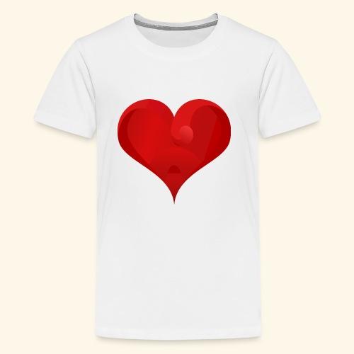 Valentine heart - Kids' Premium T-Shirt