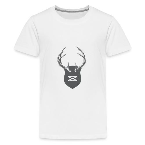 0218 mmch threadless shop stagshead gray - Kids' Premium T-Shirt