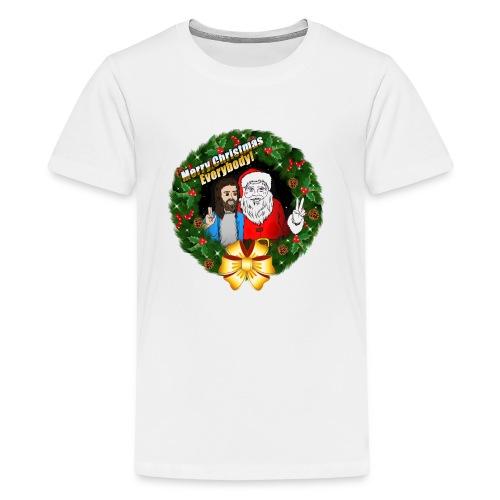Merry Christmas: Santa And Christ Tshirt - Kids' Premium T-Shirt