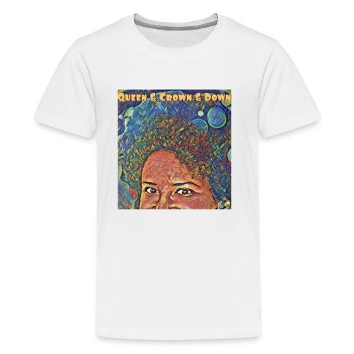 Queen Crown Down - Kids' Premium T-Shirt