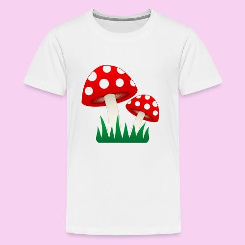 Grassy Shrooms - Kids' Premium T-Shirt
