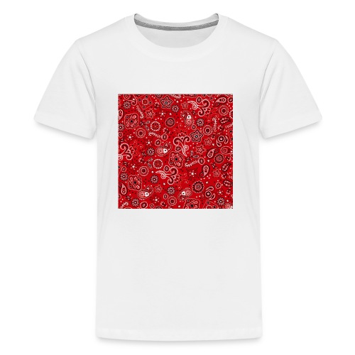 Red bandana square box - Kids' Premium T-Shirt