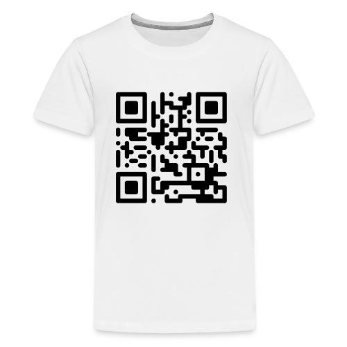 QR Codes are Dumb - Black - Kids' Premium T-Shirt