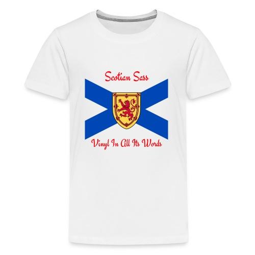 Scotian Sass Transparent - Kids' Premium T-Shirt