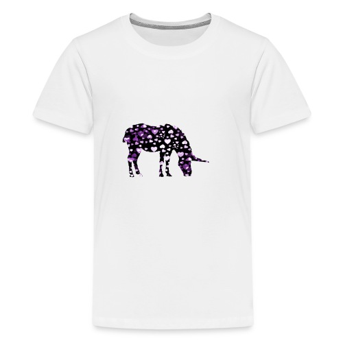 Unicorn Hearts purple - Kids' Premium T-Shirt