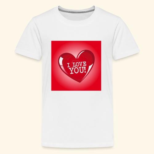 red heart i love you - Kids' Premium T-Shirt