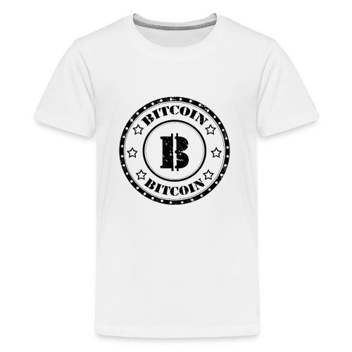 Bitcoin Money Black and White Stars - Kids' Premium T-Shirt