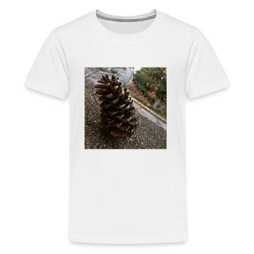 Pine Cone on Ledge - Kids' Premium T-Shirt