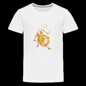 Leo (Purple and Gold) - Kids' Premium T-Shirt