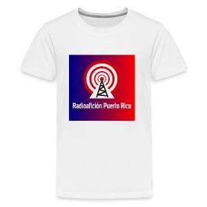 LOGO de radioaficionpr logoazulyrojo2 - Kids' Premium T-Shirt