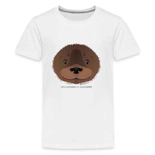 baby otter water slide - Kids' Premium T-Shirt
