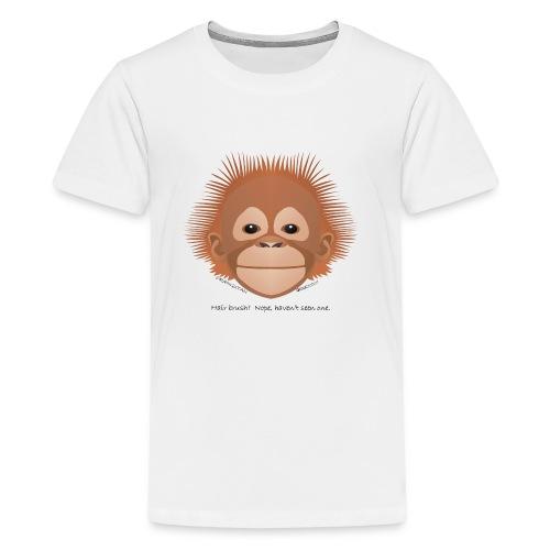 baby orangutan face - Kids' Premium T-Shirt