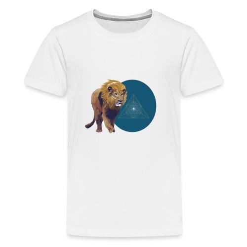 Lion with Tetraeder - Kids' Premium T-Shirt