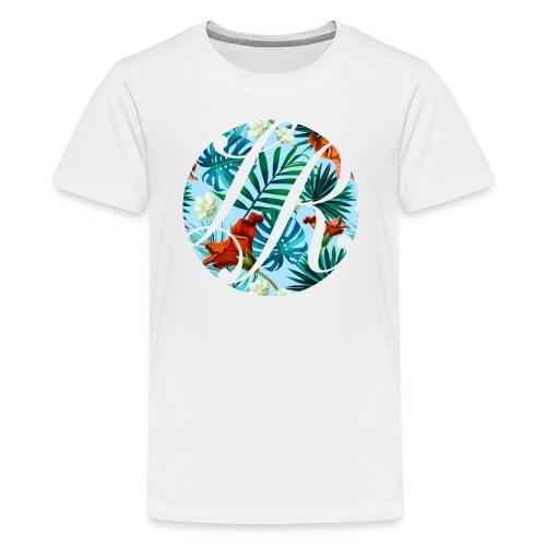 Hawaiian Print Logo - Kids' Premium T-Shirt