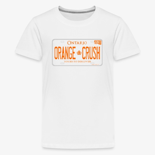 ONTARIO NDP ORANGE CRUSH LICENCE PLATE - Kids' Premium T-Shirt