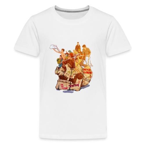 Skull & Refugees - Kids' Premium T-Shirt