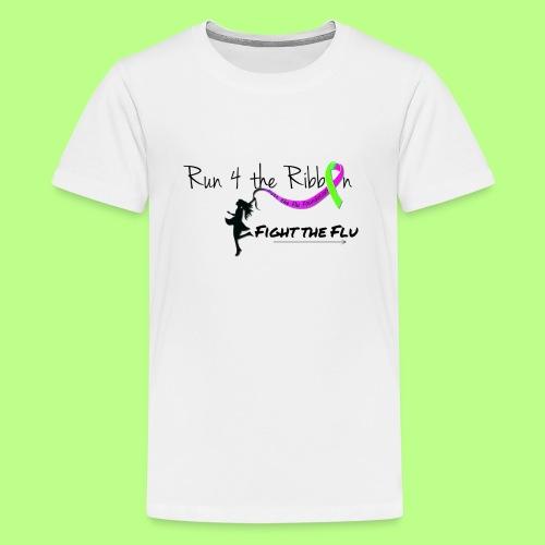 FIGHT THE FLU RUNNING 4 THE RIBBON - Kids' Premium T-Shirt