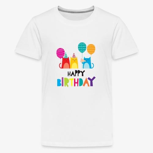 Cats & Happy Birthday - Kids' Premium T-Shirt