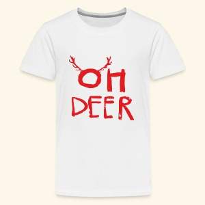 oh deer Christmas are coming . - Kids' Premium T-Shirt