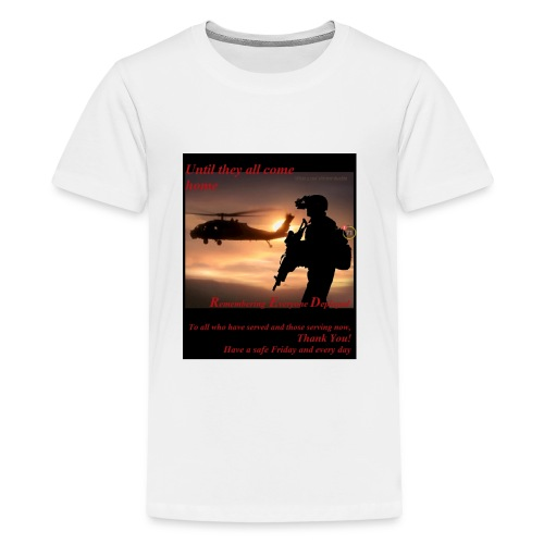 Red Friday respect the military - Kids' Premium T-Shirt