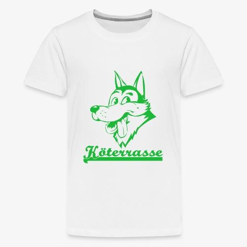 Köterrasse grün - Kids' Premium T-Shirt