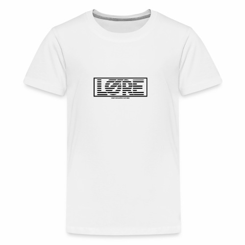 ''Lore'' Logo Black Stripes - Kids' Premium T-Shirt
