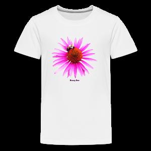 Bee on a pink - orange flower - Kids' Premium T-Shirt