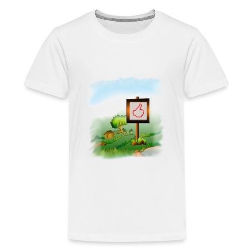 Super nature kids love like banner - Kids' Premium T-Shirt
