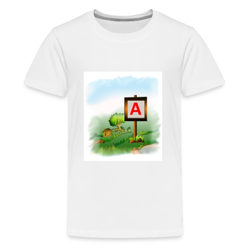 Super nature kids love letter A banner - Kids' Premium T-Shirt
