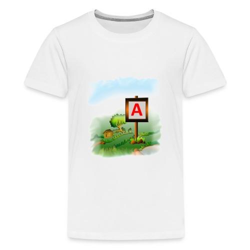 Super nature kids love letter A banner - Kids' Premium T-Shirt