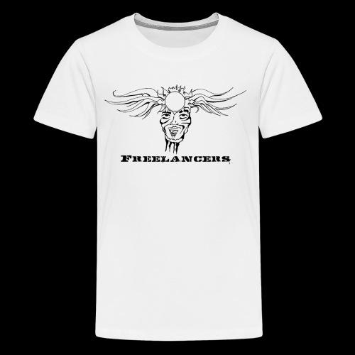 Freelancers white logo - Kids' Premium T-Shirt
