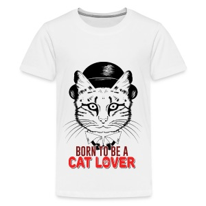 Born to be a cat lover - Kids' Premium T-Shirt