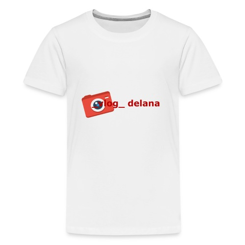 _vlog_ delana Logo Design - Kids' Premium T-Shirt