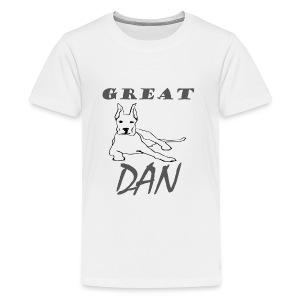 Great Dan Dog Funny Shirt For Dog Lover - Kids' Premium T-Shirt