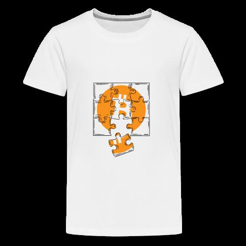 Bitcoin coin. Bitcoin logo t-shirt. Crypto Puzzle - Kids' Premium T-Shirt