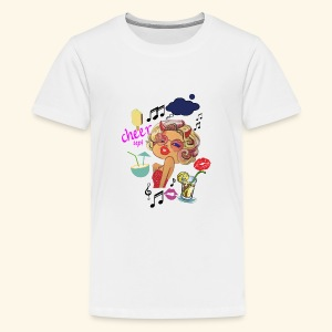 Pop Art Woman, Cheer Up Lady in Love - Kids' Premium T-Shirt