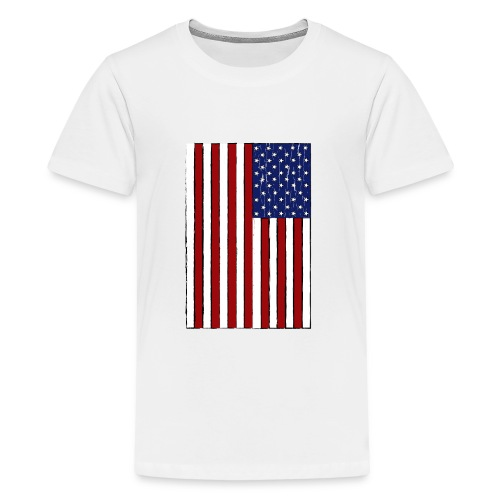USA Flag (Distressed) - Kids' Premium T-Shirt