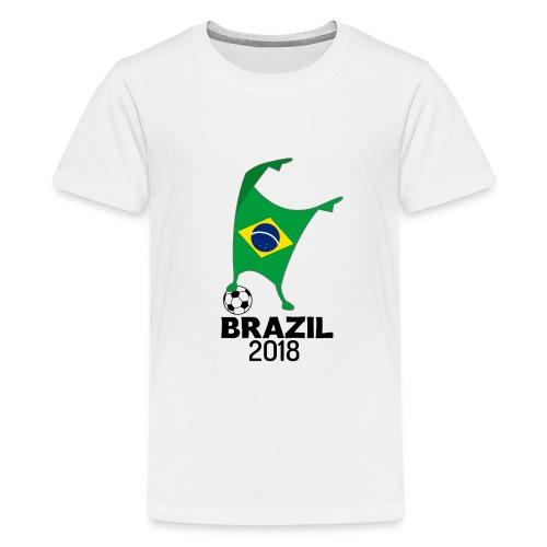Brazil Flag 2018 Football Cup Soccer Dabbing World Jersey - Kids' Premium T-Shirt